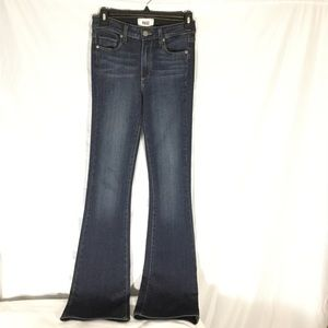 PAIGE Denim High-Rise Bell Canyon Flare Jeans EUC